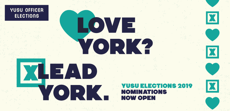 YUSU Officer Elections 2019 - Love York? Lead York.