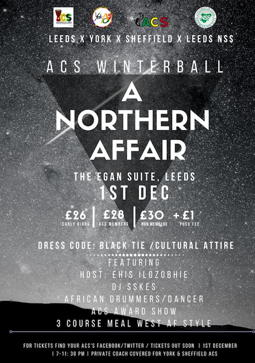 Leeds x York x Sheffield ACS Winterball: A Northern Affair