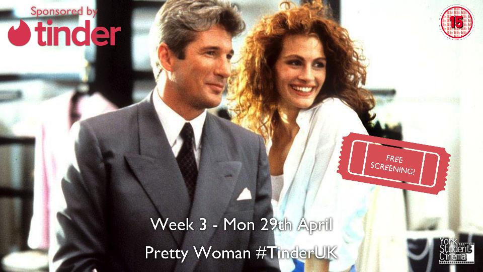 Free YSC Screening of Pretty Woman! #TinderUK