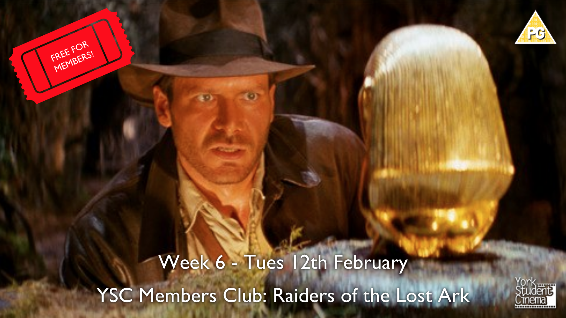 YSC Film Club: Raiders of the Lost Ark