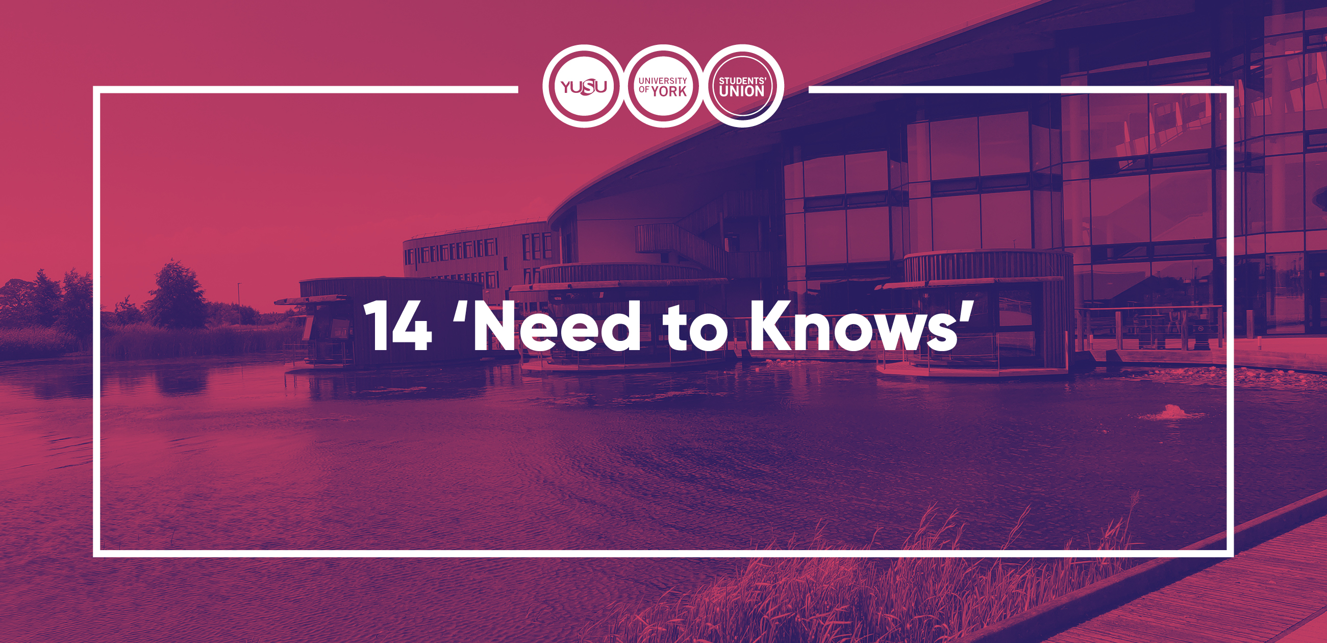 14 'Need to Knows' blog