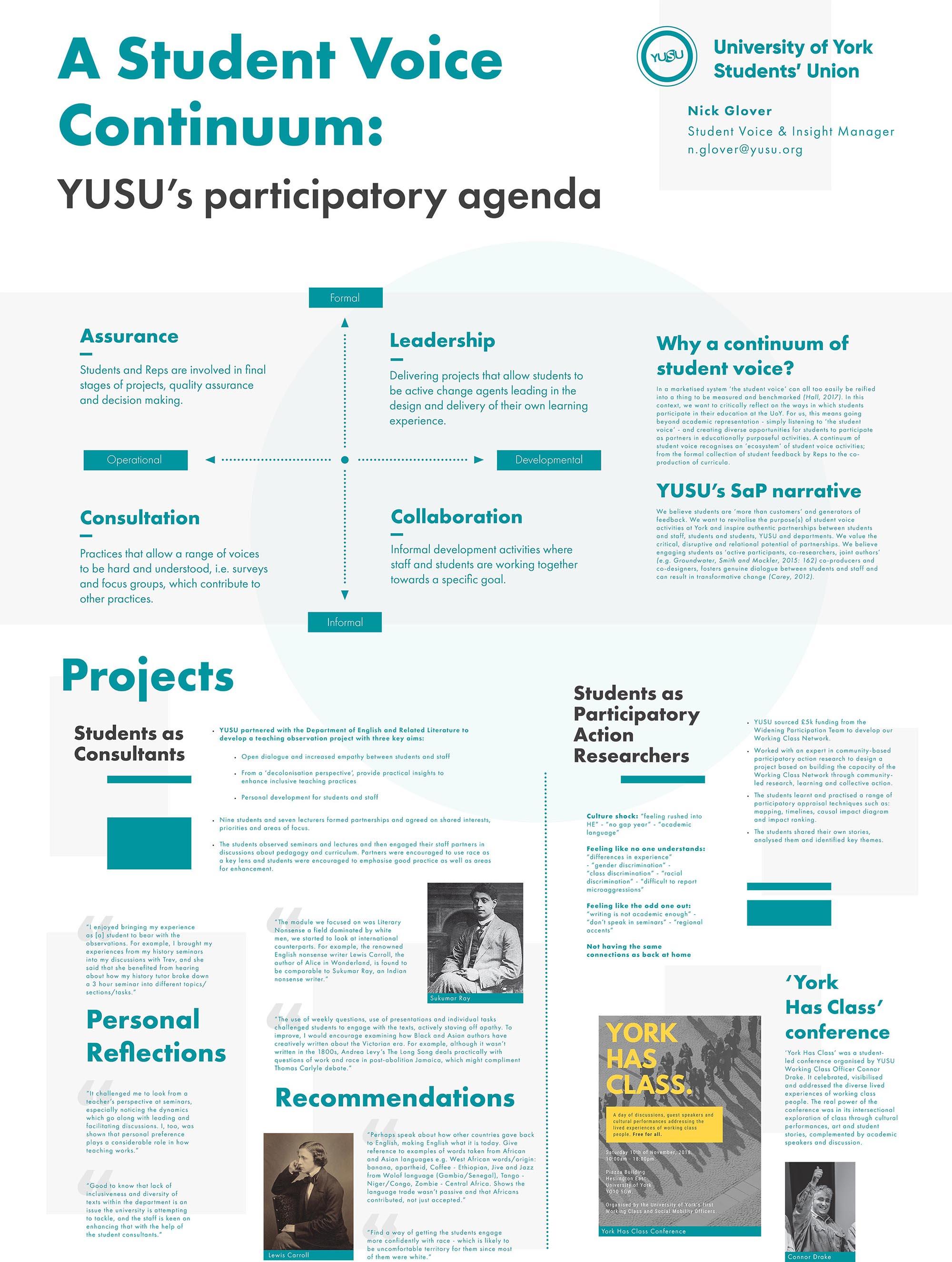 A Student Voice Continuum: YUSU's participatory agenda
